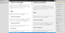 The StackEdit editor screen.